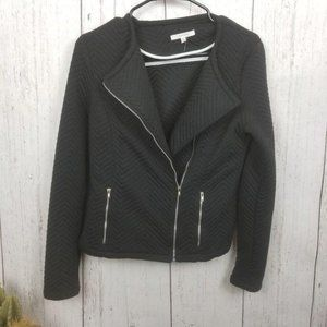 41 Hawthorn Quilt Zip Up Jacket Black Small